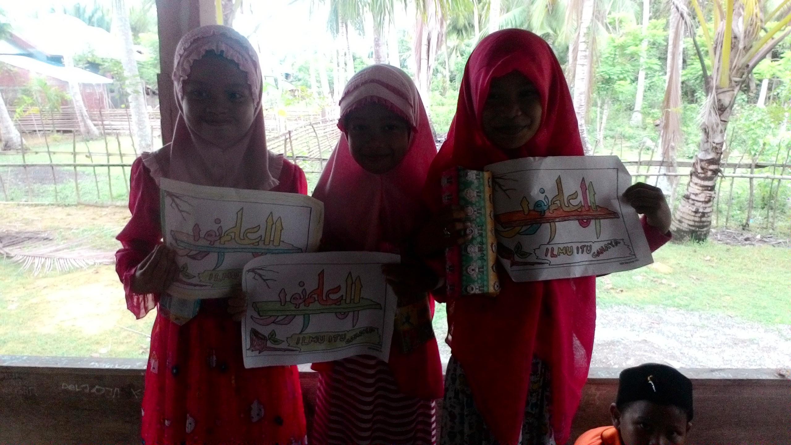 diharapkan anak anak bisa mencintai seni islam ini serta mereka bisa menikmati seni tersebut serta meningkatkan kreativitas dalam mewarnai kaligrafi