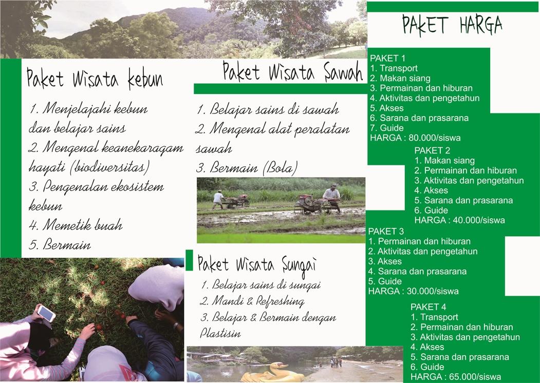 Pembuatan Brosur Untuk Wisata Edukasi Ppm 29 Gampong Meunasah Bak Ue Kecamatan Leupung Kkn 2015