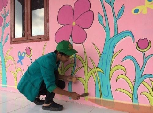 Gambar Lukisan Dinding Sekolah Paud Nusagates