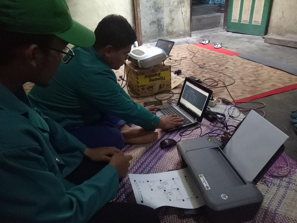 Pembuatan Gambar Perencanaan Tempat Wudhu & WC Mushola